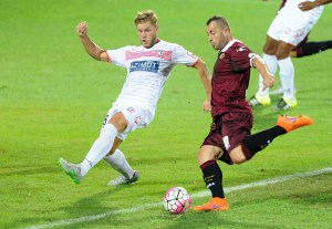 during the TIM Cup match between Carpi FC and AS Livorno at Stadio Sandro Cabassi on August 16, 2015 in Carpi, Italy.