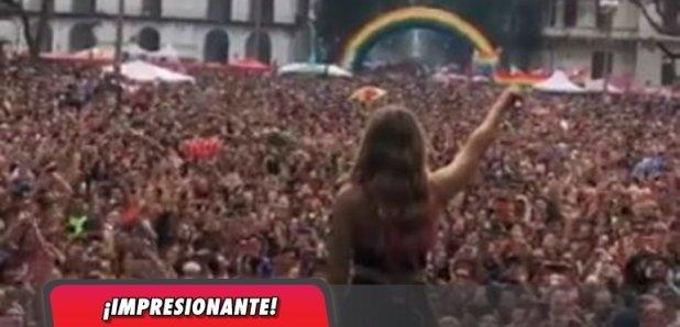¡Increíble! El súper concierto de Jimena Barón en la Marcha del Orgullo LGBTIQ