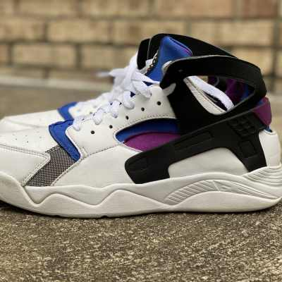 Air Flight Huarache PRM QS 'White Lyon Blue'