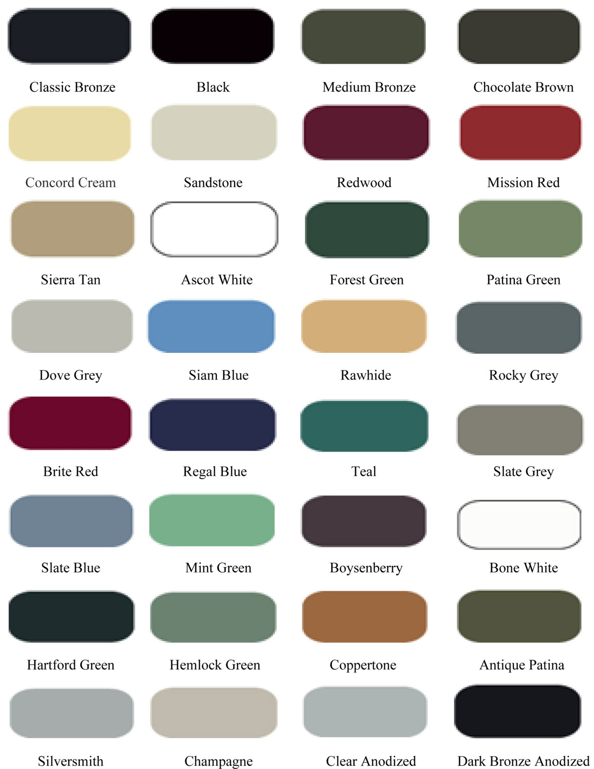 Color Chart  Proof Industries