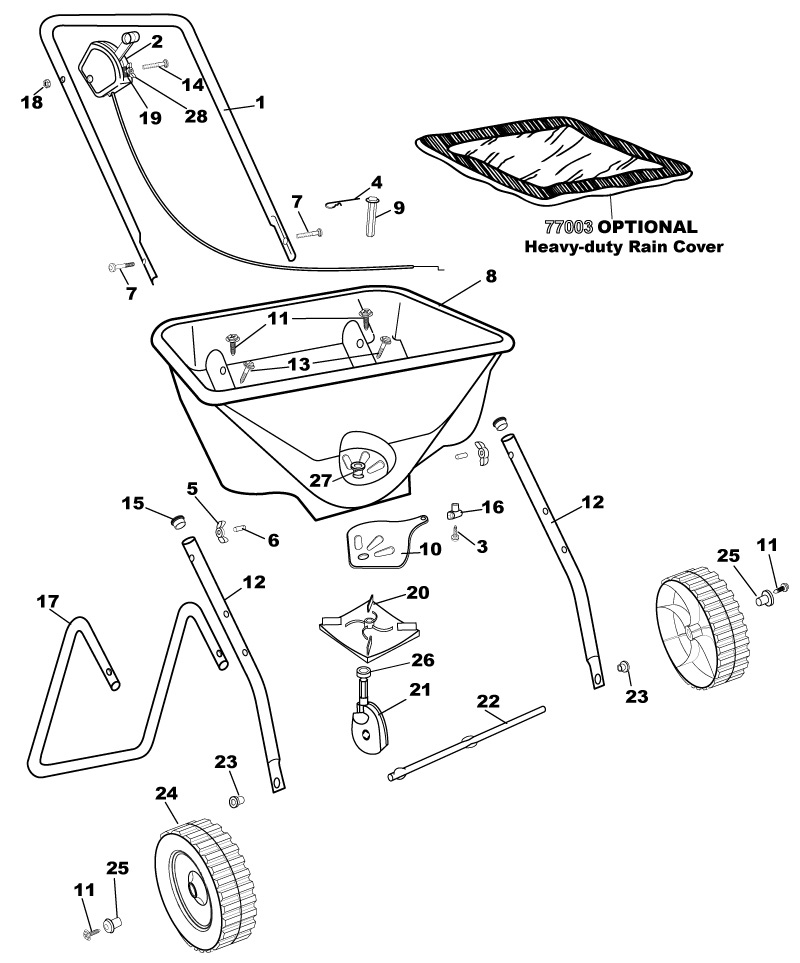 EarthWay 2030P-Plus Residential Spreader Parts