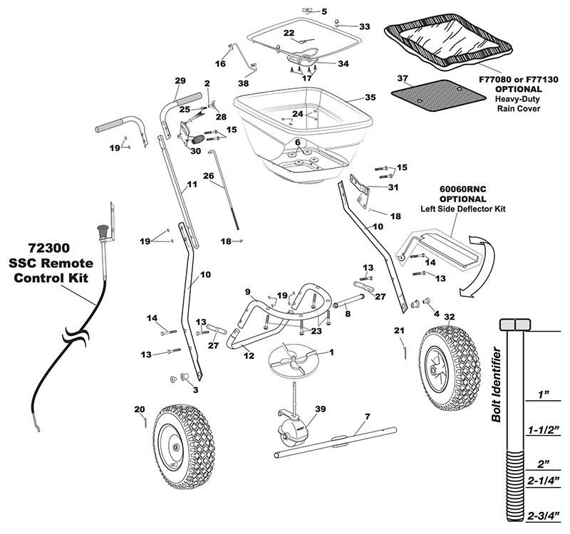 Earthway 2030 Single Residential Spreader Parts