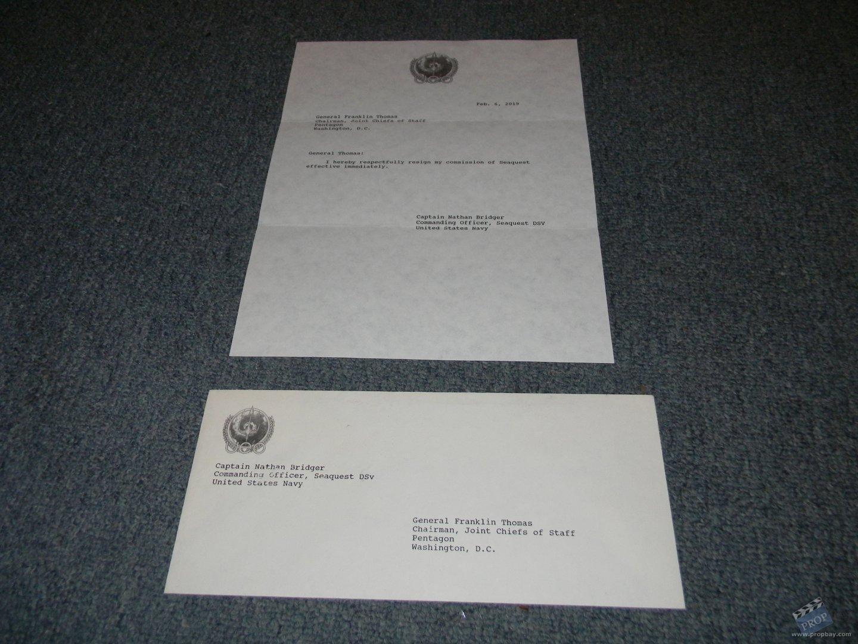 Resignation Letter  Envelope Unsigned Movie Prop from SeaQuest DSV TV 1993  Online Movie