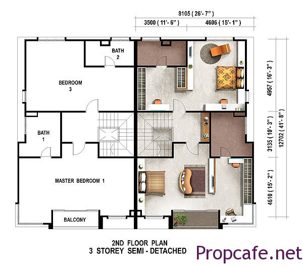 floor-plan-3-storey-semi-detached-caribea-second-floor