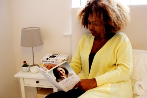 Photo of Charelle reading Lean In