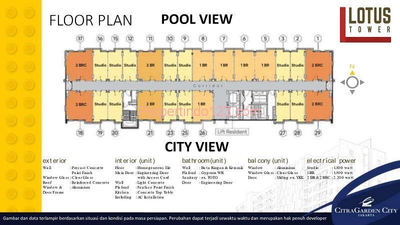 CitraGarden City Jakarta Barat - Floor Plan   Propertindo123.com