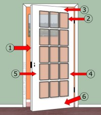 How to paint a glass panelled door :: Property Decorating