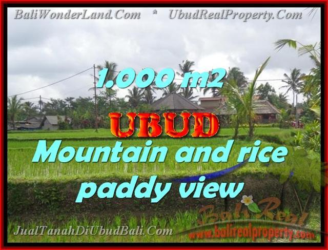Land in Bali for sale, attractive view in Ubud Tegalalang Bali – TJUB424