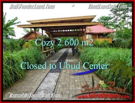 FOR SALE Affordable 2,600 m2 LAND IN UBUD TJUB491