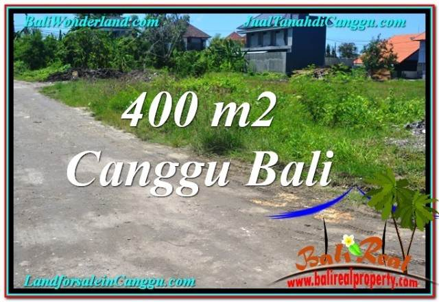 Beautiful Canggu Brawa BALI 400 m2 LAND FOR SALE TJCG202