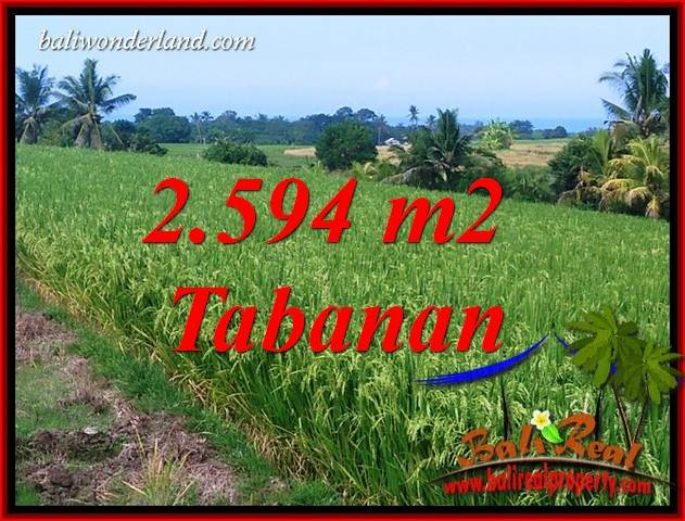 FOR sale Exotic 2,594 m2 Land in Tabanan Bali TJTB414