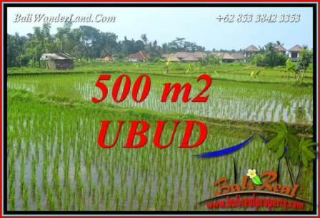 500 m2 Land in Ubud Bali for sale TJUB708