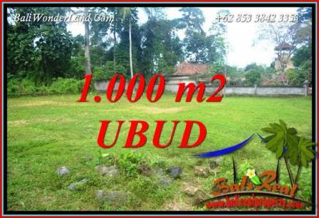 Magnificent 1,000 m2 Land sale in Ubud Bali TJUB728