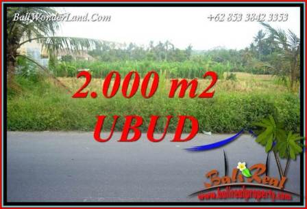 Beautiful Property Ubud Kemenuh Bali 2,000 m2 Land for sale TJUB737