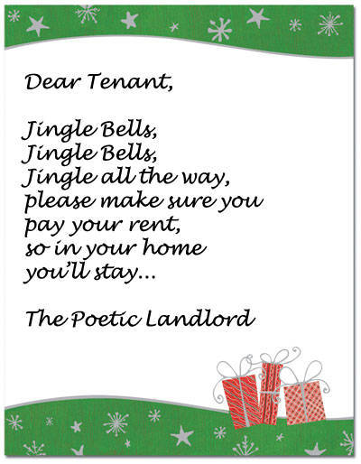 Shit You Shouldnt Write In Your Tenants Christmas Card