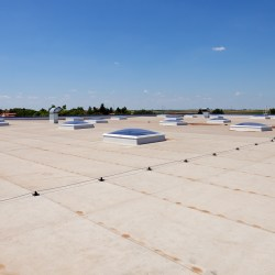 Flat Roofing Systems On Industrial Building