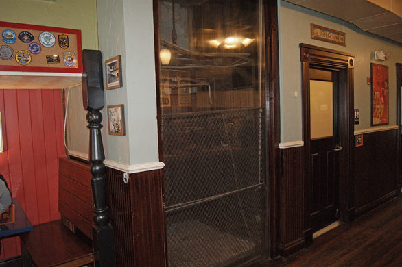 Oldest Cage Elevator Inside Washington DC Potbelly's Restaurant
