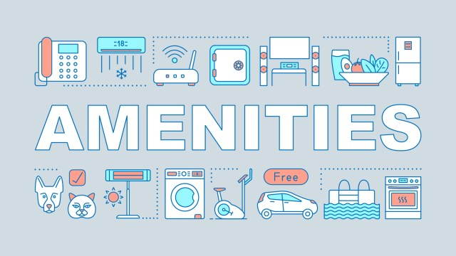 Illustrated Icons Showing Apartment Amenities and What Is Impacting Apartment Amenities In 2020
