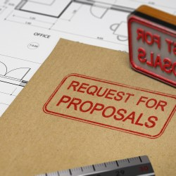 Request For Proposal Stamped On Folder For 5 Ways To Find New Contractors In 2020 Property Manager Insider Blog