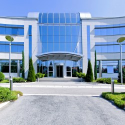 Corporate Headquarters Building Offering Great Office Building Amenities