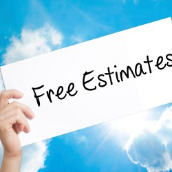 Free Estimates On White Paper Against Sky Background For Property Manager Insider BidSource