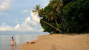 The island of Kosrae in Micronesia