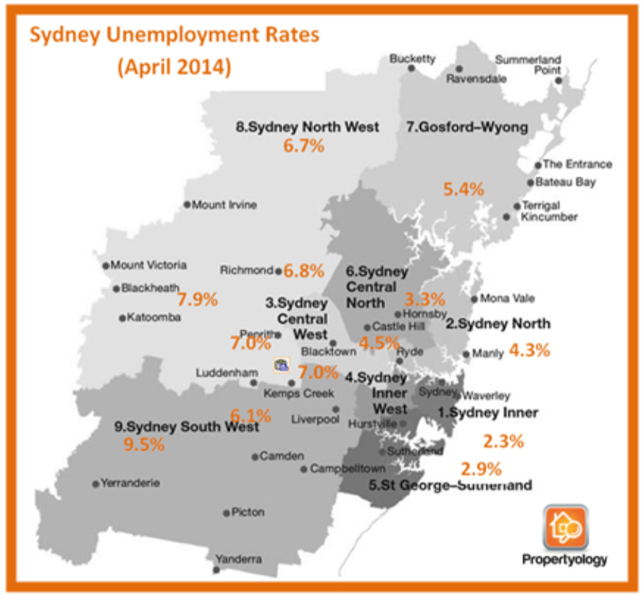 propertyology-sydney-property-market-house-of-cards-sydney-unemployment-rates-april-2014
