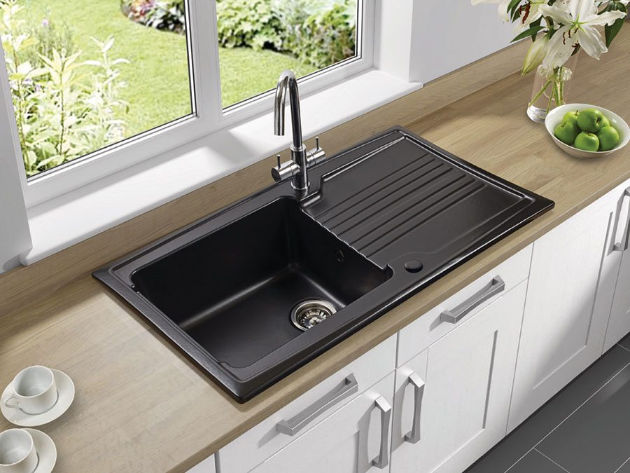 kitchen sinks with drainboard built in cabinet materials choosing the right sink - property price advice