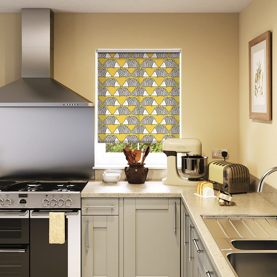 grey kitchen blinds aid mixer bowls how to dress your windows property price advice expect spend from 27 45 for a made measure spike honey roller blind measuring w40cm x d40cm scion living contact 2 go free fabric