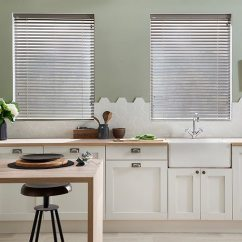 Kitchen Blinds Cork Flooring For How To Dress Your Windows Property Price Advice Faux Wood Venetian Blind In Smoke Priced From 82 At Hillarys And Measuring W50cm X D90cm
