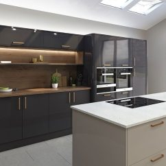 Kitchen Islands Uk French Country Accessories Planning The Perfect Island Property Price Advice Grey And Neutral Gloss Finishes Create A Crisp Appearance In Mala By Lochanna Priced From Around 7 000