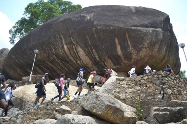 Image result for Olumo Rock in Abeokuta