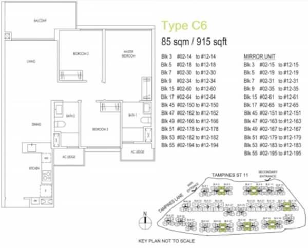 Treasure at Tampines Floor Plan