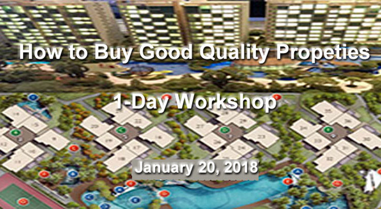 How to Buy Good Quality Properties 1-Day Workshop