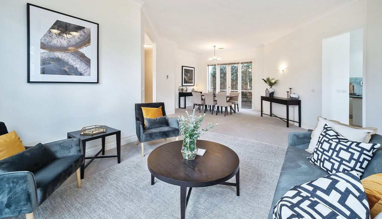 After Property Styling Malvern East Formal Living