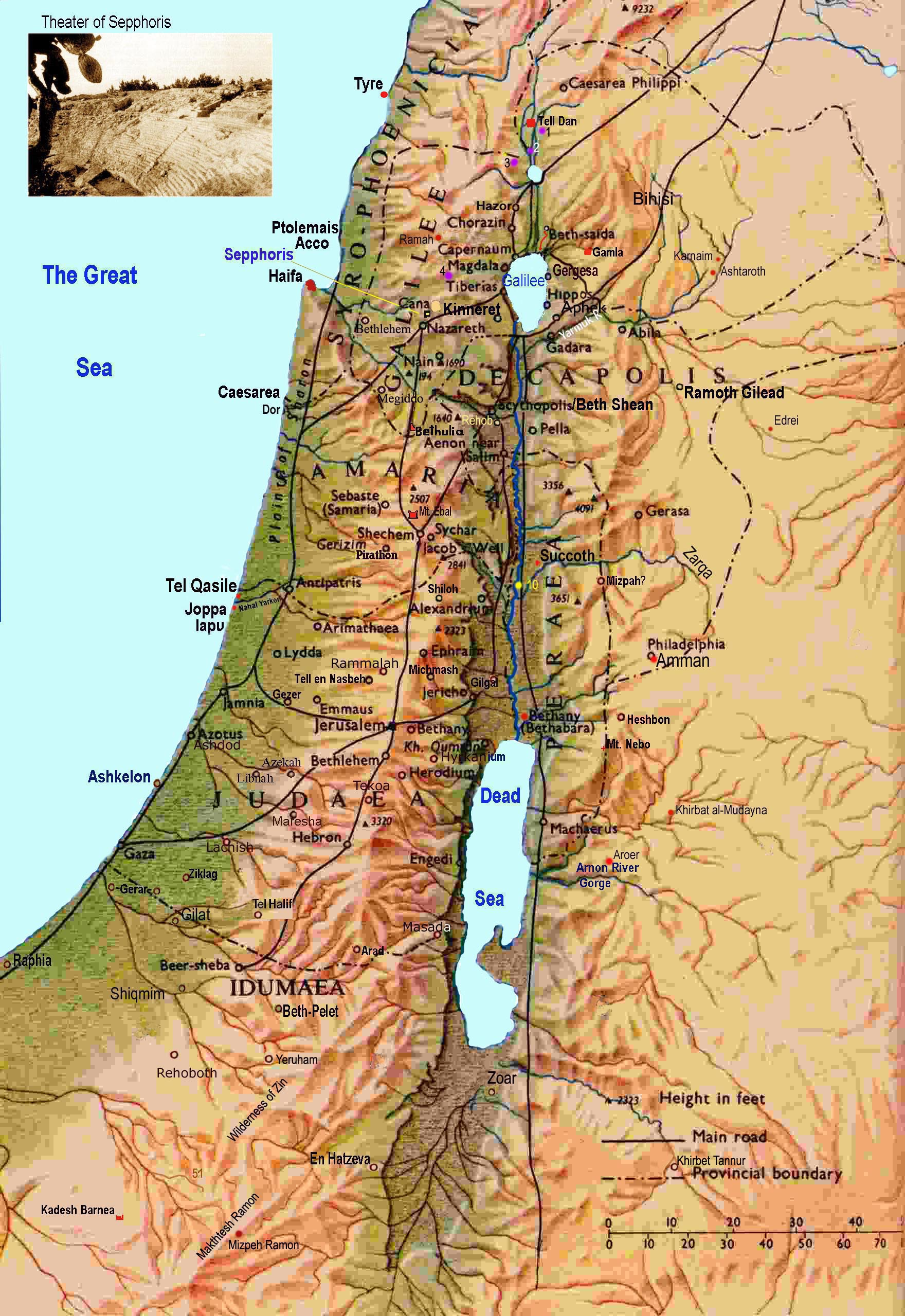 Ancient Map Israel
