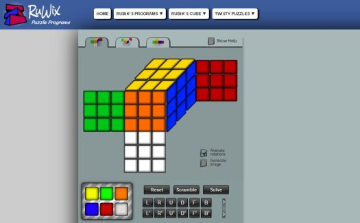 solve rubix cube online from pattern and step by step