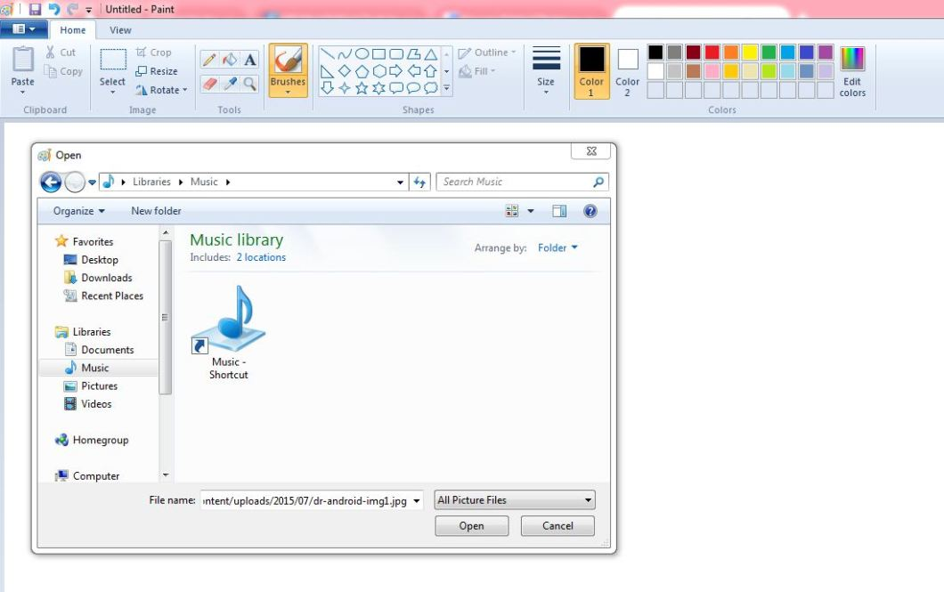 Edit Image File in Paint from Url Download