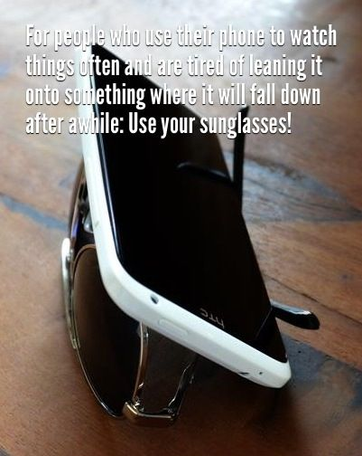 Make Phone Stand from Your Sunglasses