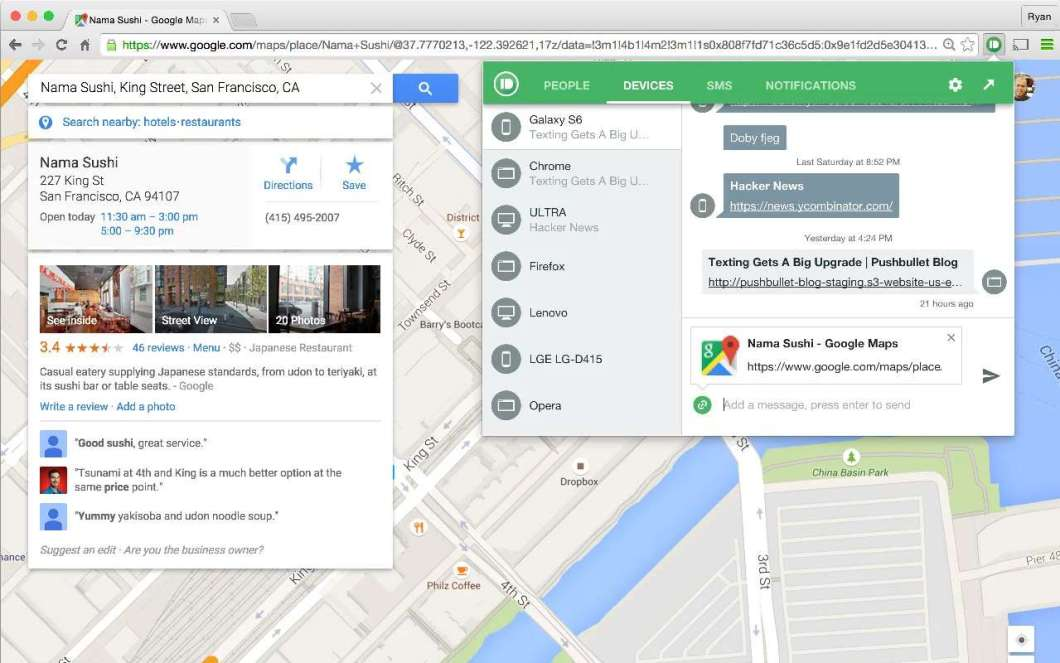 Pushbullet See Mobile Notification in PC Chrome Extension