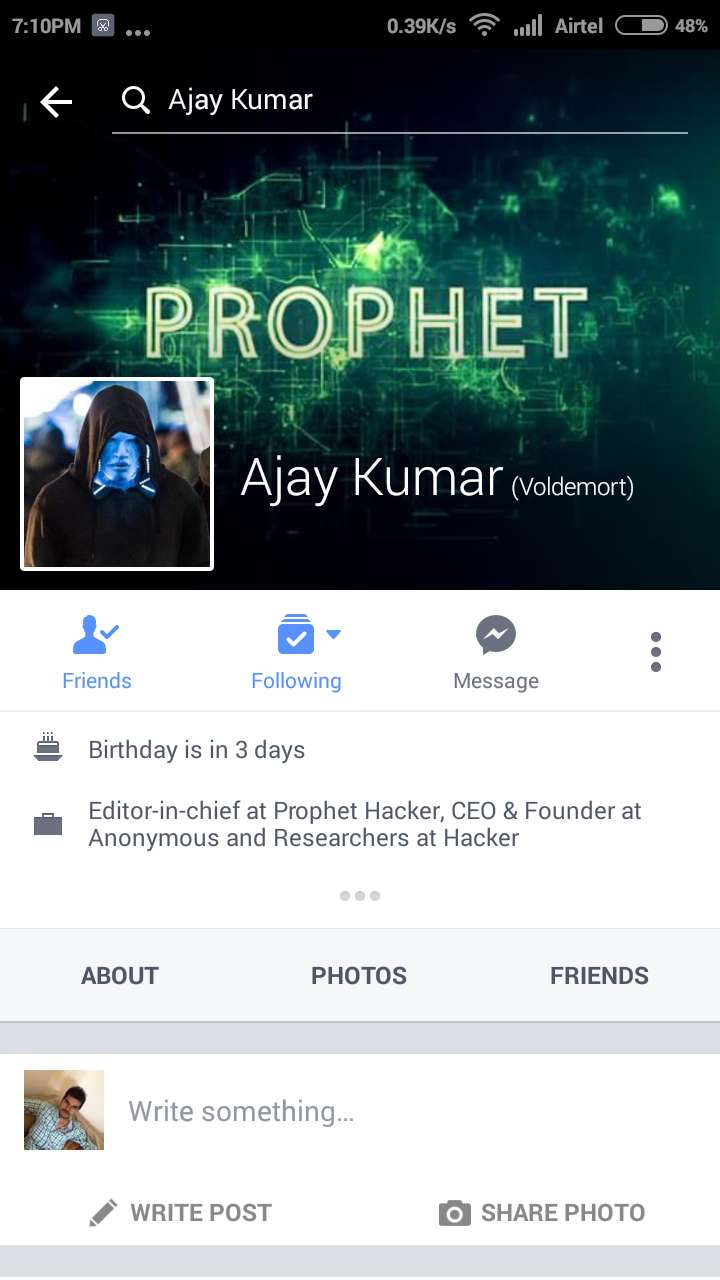 How to Report a Fake Account of Facebook in Android App