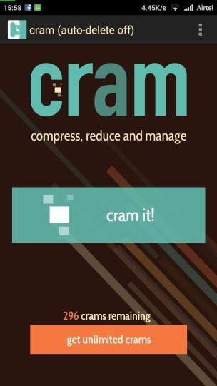 Reduce the Image Size from Cram App