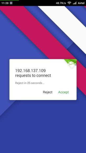 Accept Airdroid Connection