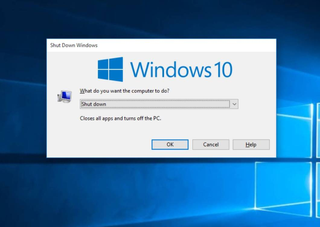 Shutdown Window 10 from Pressing Alt+ F4 Keyboard Button