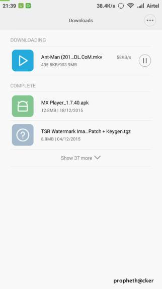 Download Movies in Mobile