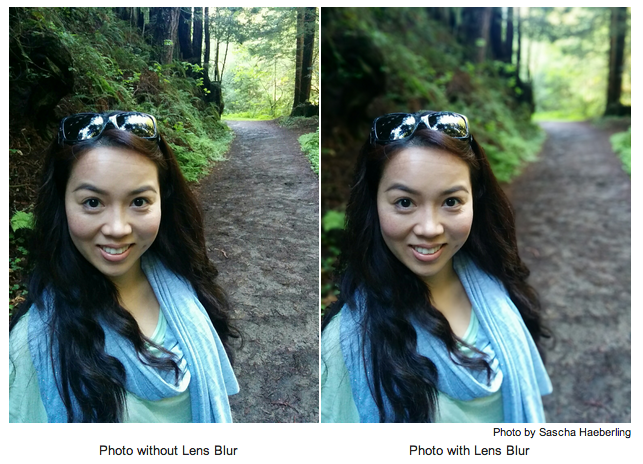 Lens Blur Before and After
