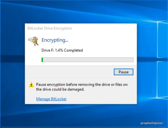 Bitlocker Encryption Process in Window PC