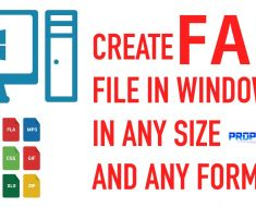 Create Fake File in Windows