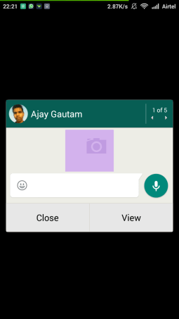 Whatsapp Pop-up Notification
