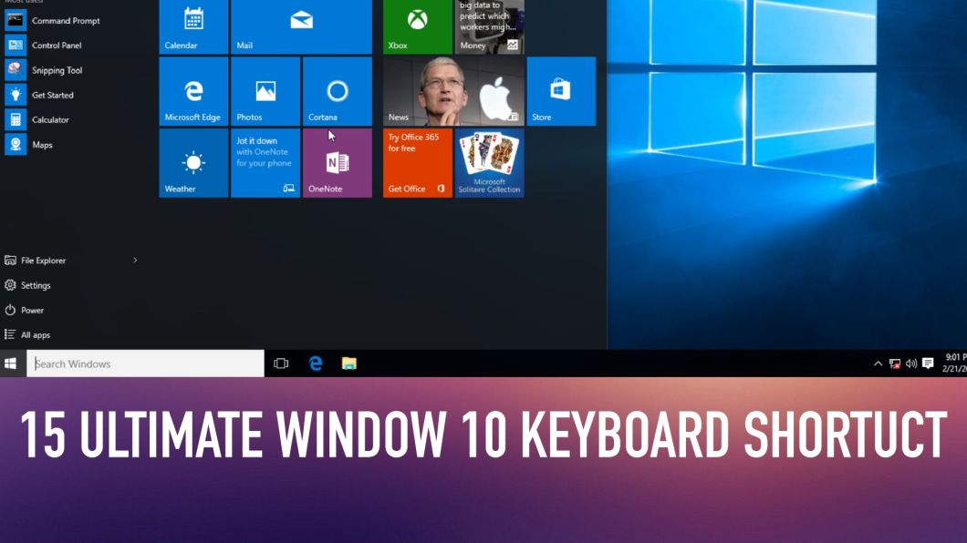 15 Ultimate Keyboard Shortcuts that You Need to Know in Window 10